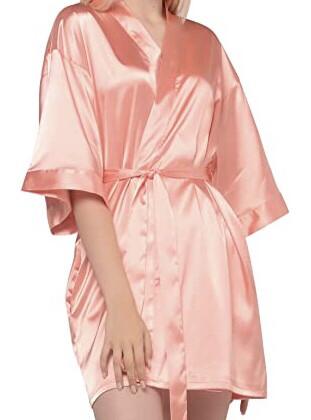 Peach Satin Kimono