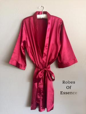 Cranberry Satin Kimono