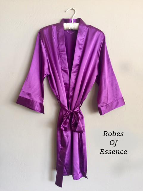Purple Satin Kimono