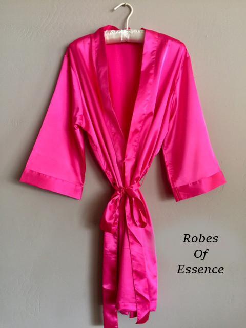Hot Pink Satin Kimono