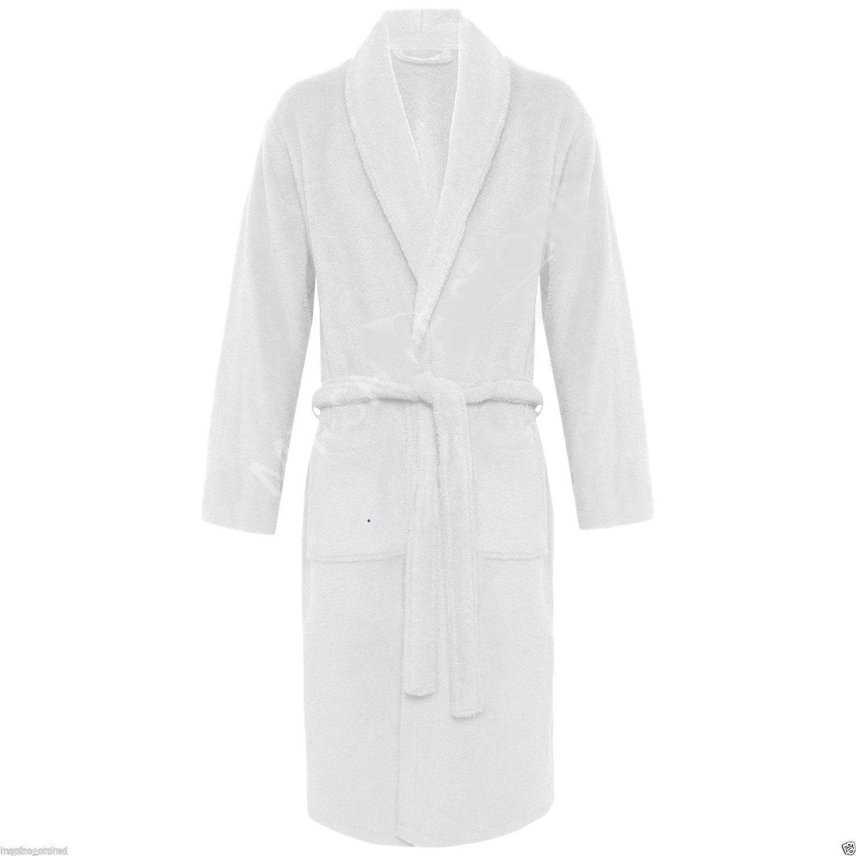 White Terry Cloth Unisex Robe
