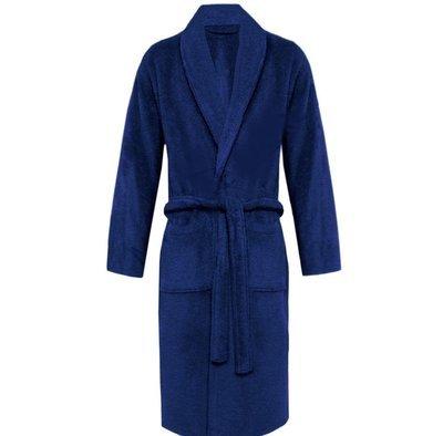 Navy Plush Soft Warm Fleece Unisex Robe