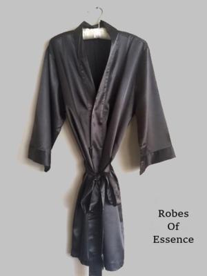 Black Satin Kimono