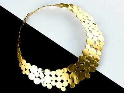 Collar precolombino choquer dorado solido