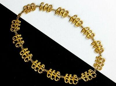 Collar precolombino dorado monos trio