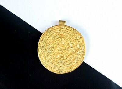 Dije Precolombino Broche Pectoral Calendario Maya