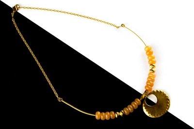 Cadena precolombina aro con piedras y nariguera lisa