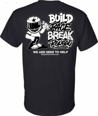 Build Race Break Repeat Tee
