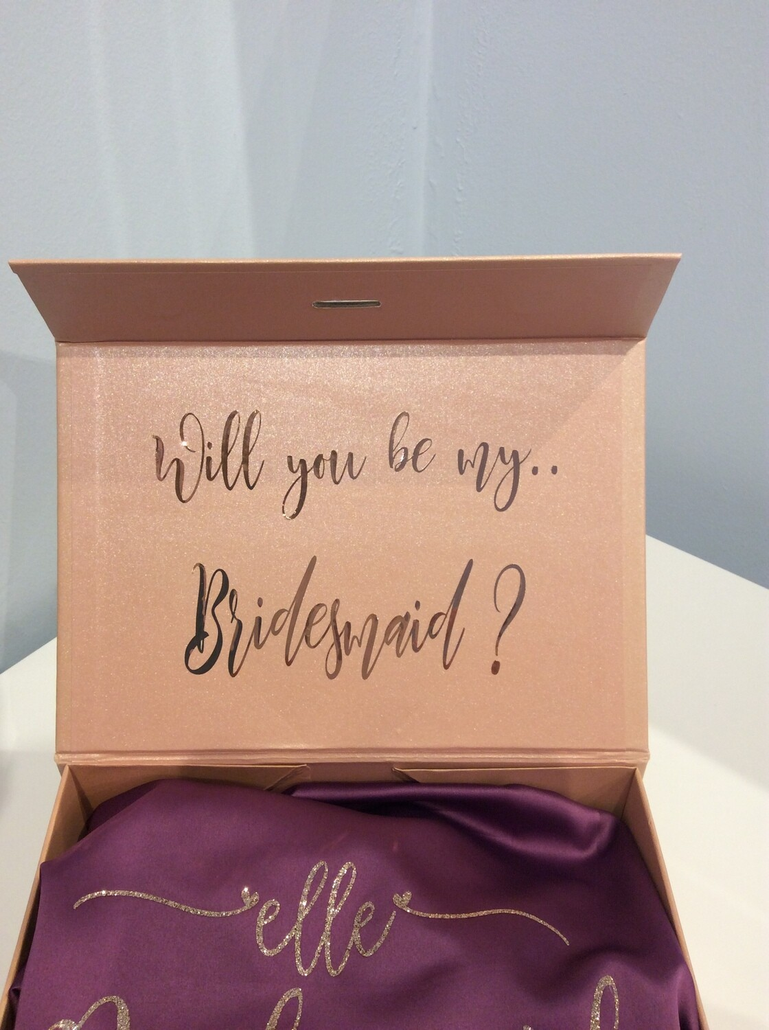 Proposal gift box with robe ( free personalised champagne flute)