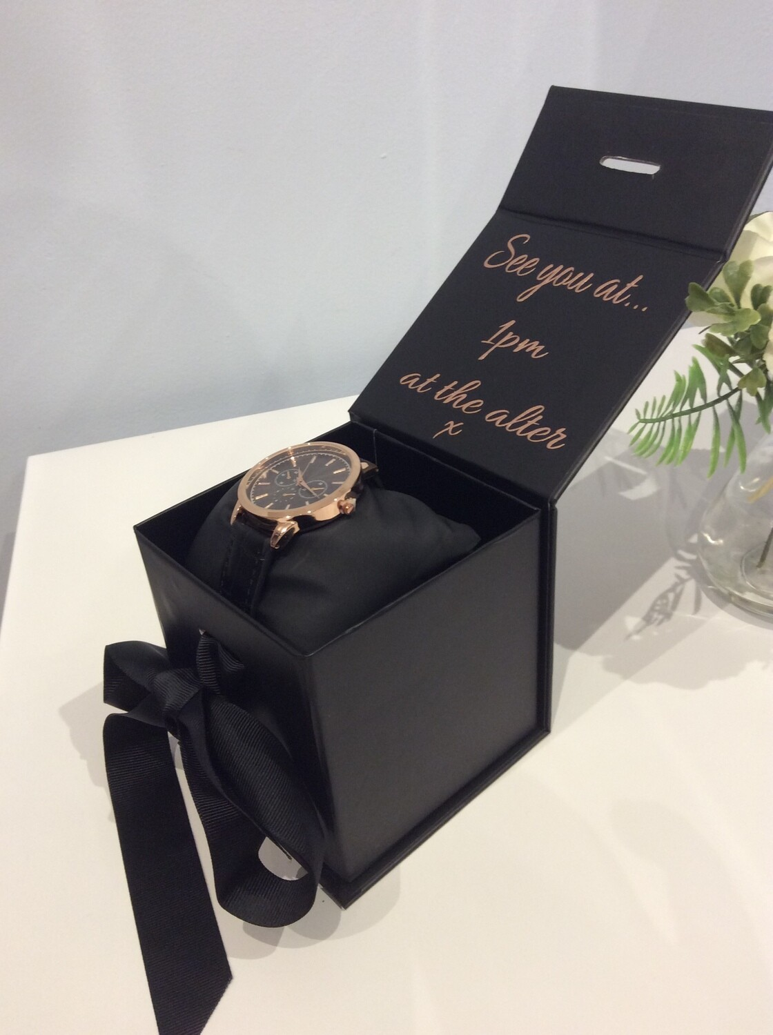 Personalised watch gift box