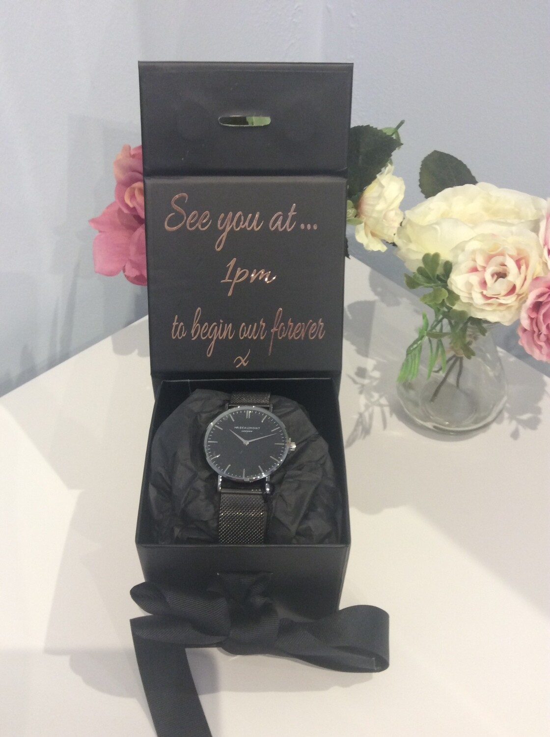 Personalised watch gift set