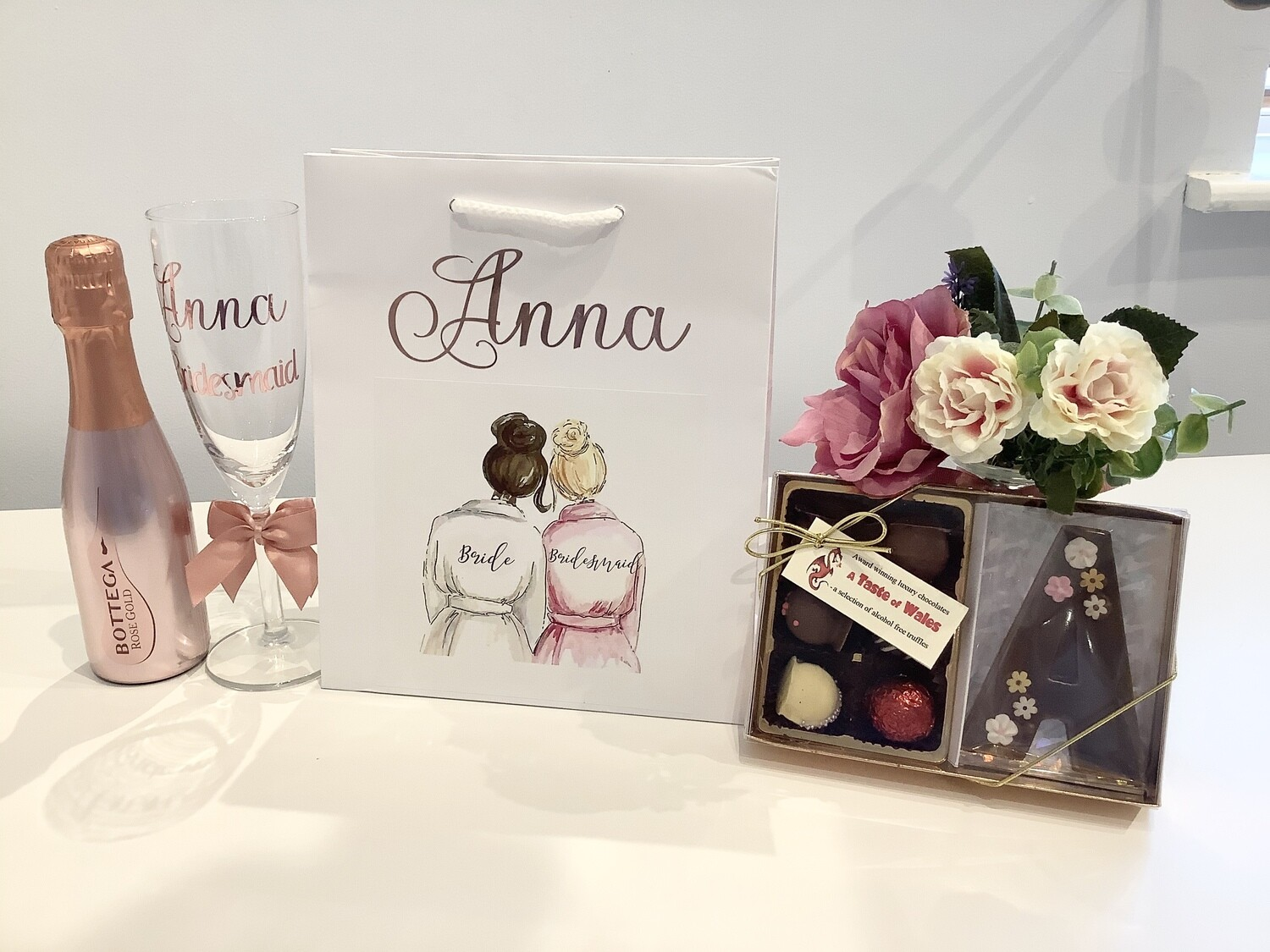 Filled picture boutique gift bag