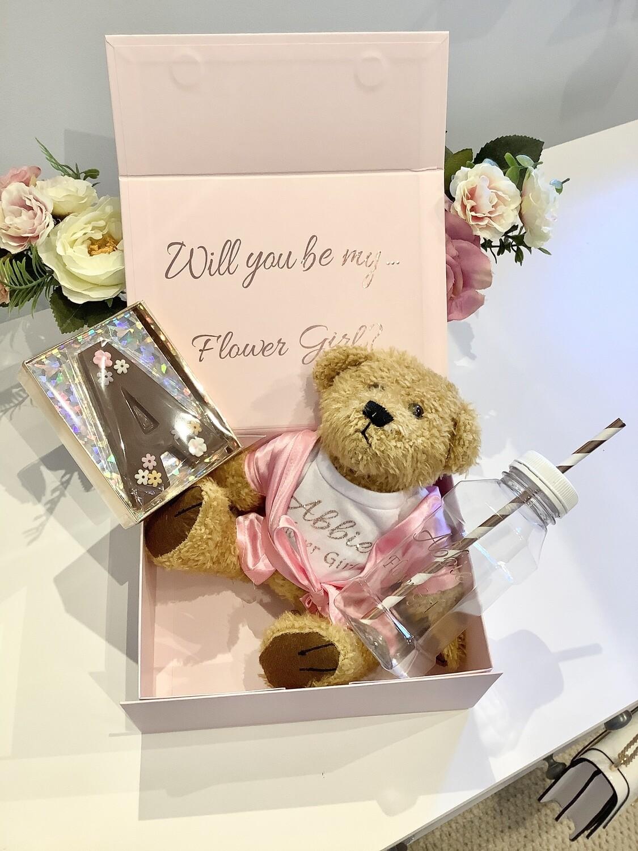 Large Filled flower girl gift box