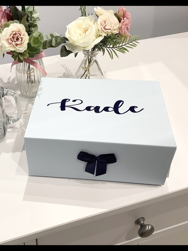 Personalised page boy gift box