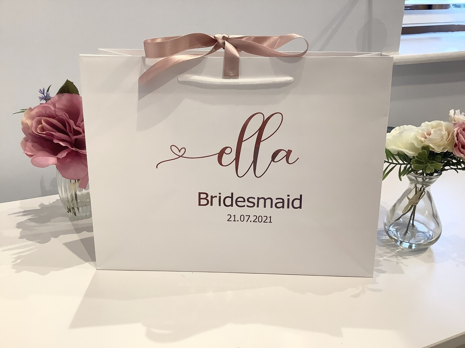 Personalised luxury boutique gift bags