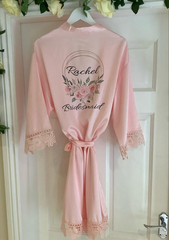 NEW ... RACHEL satin lace robe