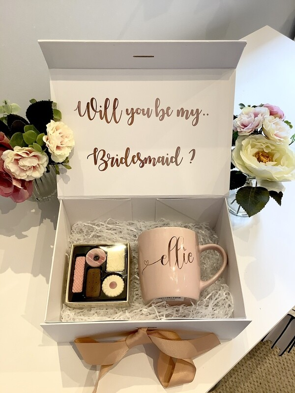 NEW...Tea & Biscuits personalised  filled gift box