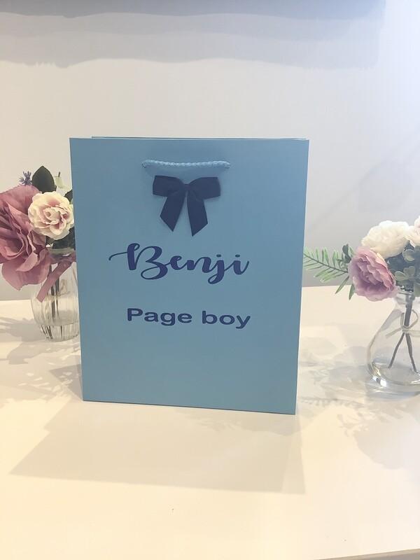 Page Boy gift bag