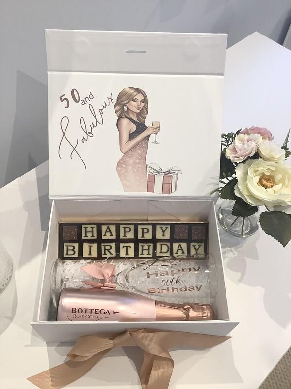Fabulous birthday filled gift box