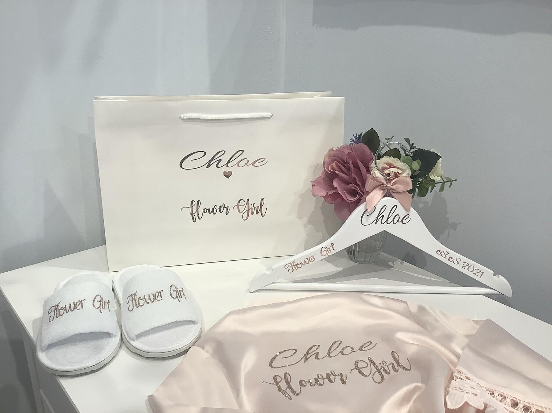 Flower girl filled personalised large gift bag