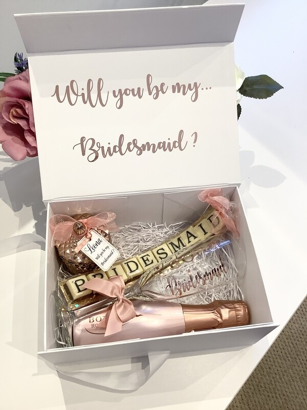 Picture frame filled proposal gift box