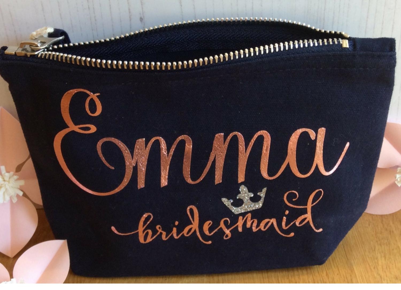 Personalised make up bags