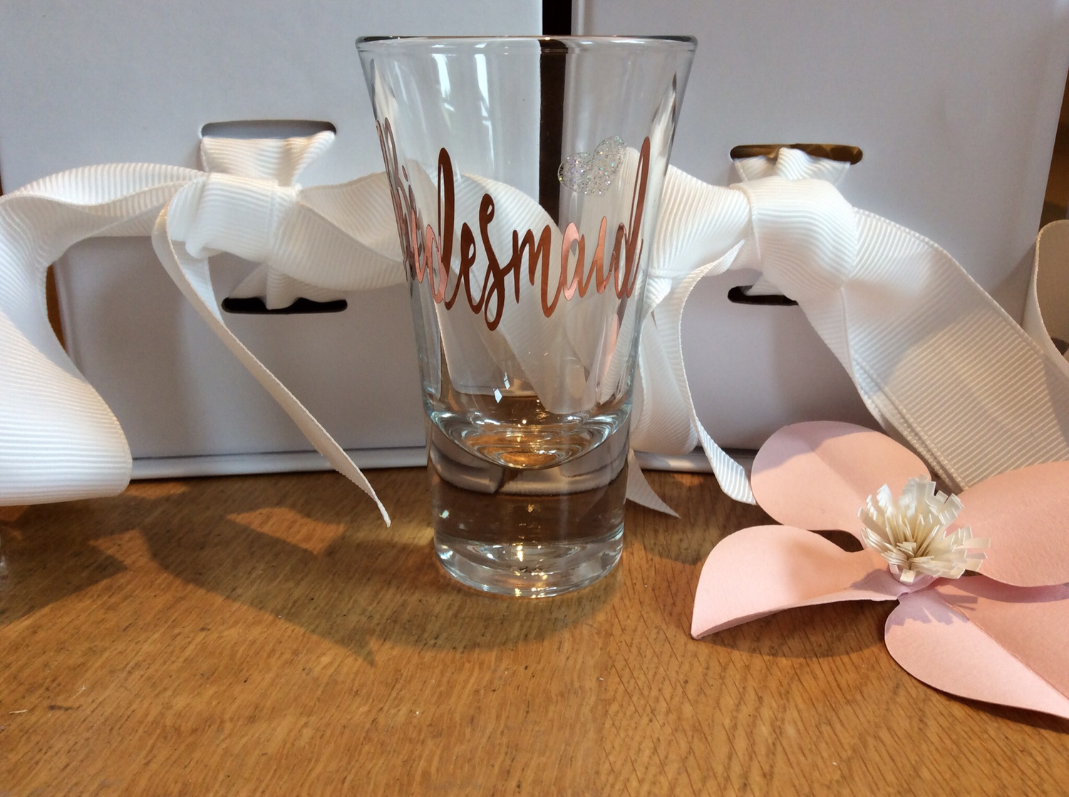 Personalised boxed shot glasses