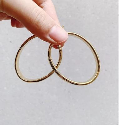 BIG OVAL HOOPS - GOLD & SILVER