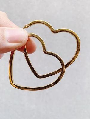 I HEART YOU HOOPS - gold