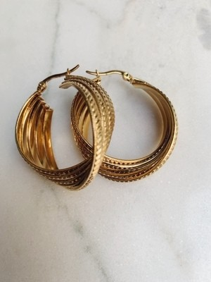 GET UP HOOPS - GOLD & SILVER