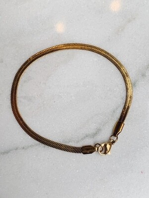 FLAT CHAIN BRACELET - GOLD & SILVER