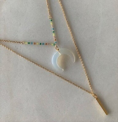 NECKLACE - BEAD AND PENDANT
