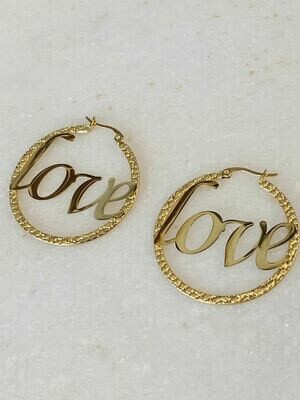LOVE HOOPS - GOLD & SILVER