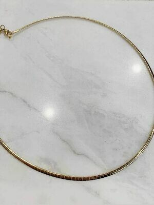 CHOKER NECKLACE - GOLD & SILVER