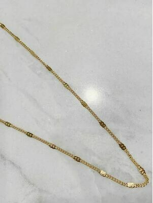 FLAT DOT NECKLACE - GOLD & SILVER
