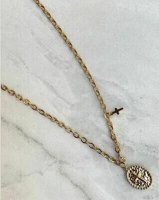 CROSS NECKLACE - GOLD & SILVER