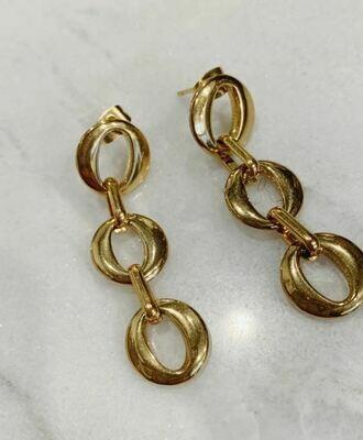 CHAIN EARRINGS - GOLD & SILVER