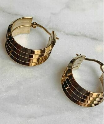 STACK HOOPS - GOLD & SILVER