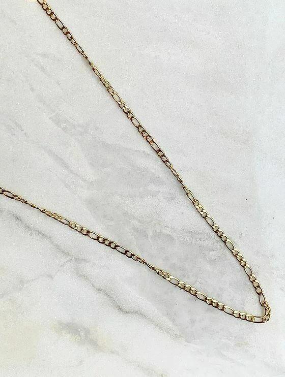 VINTAGE NECKLACE LONG - GOLD & SILVER