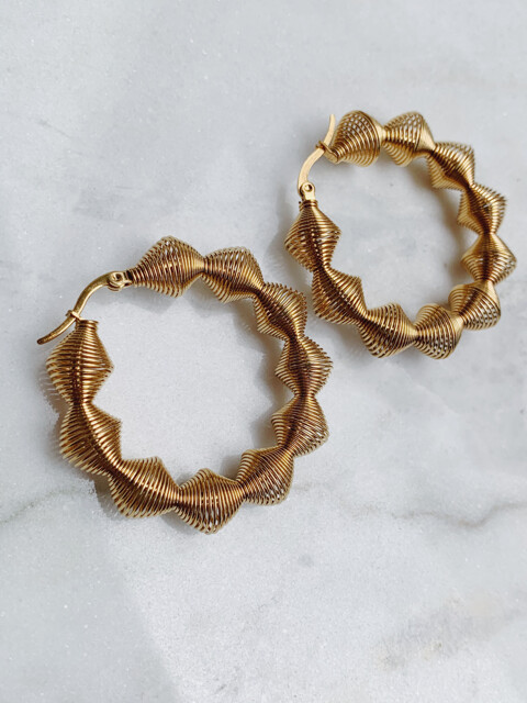 SPIRAL HOOPS - GOLD & SILVER