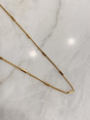 TUBE NECKLACE - GOLD & SILVER