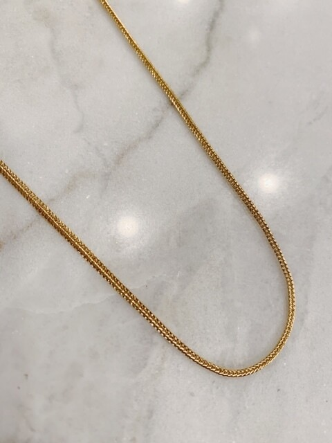 SMALL SNAKE NECKLACE - GOLD & SILVER