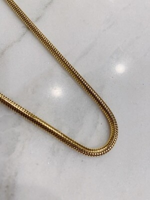 BIG SNAKE NECKLACE GOLD & SILVER