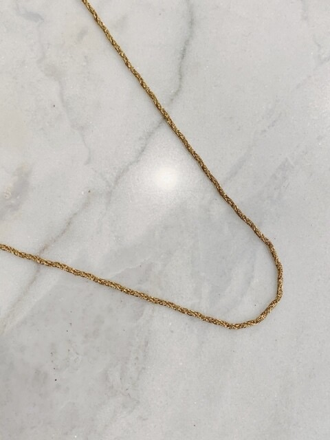 BRAIDED NECKLACE - GOLD & SIlVER