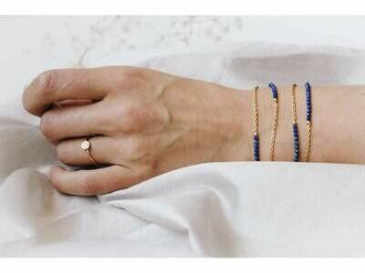 Lapis Lazuli - Gold Sunglasses Chains - 24k gold plated - Stones of Wisdom