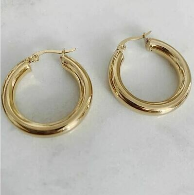 CHUNKY ROUND HOOPS - 2 SIZES