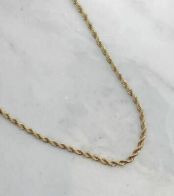 TWISTY NECKLACE - GOLD & SILVER