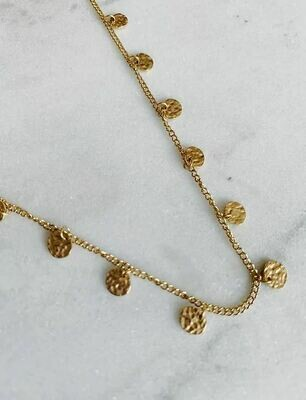 COIN CHOKER - GOLD & SILVER