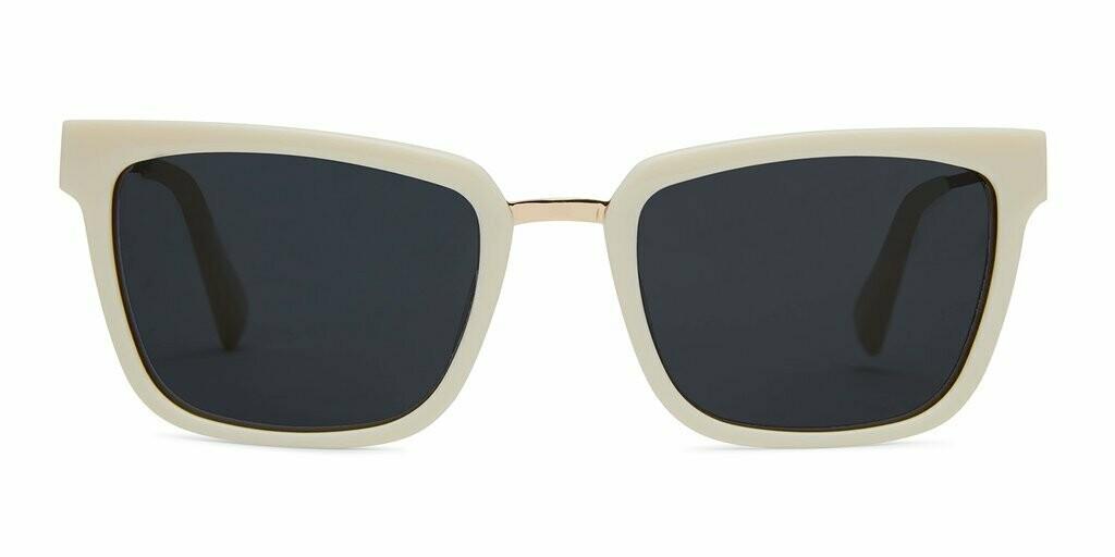 Chloe Sunglasses Unisex -  Ivory White - Baxter Blue