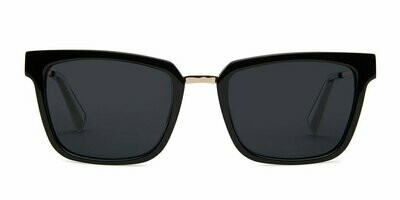 Chloe Sunglasses Unisex - Midnight Black - Baxter Blue